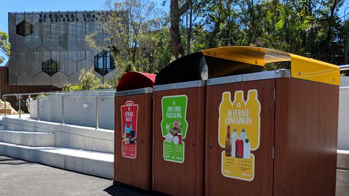 Taronga maintains 20 separate waste streams to maximise diversion