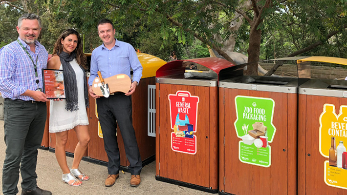 Waste management at Taronga Zoo Sydney.